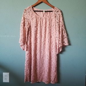 Tacera Bell Sleeve Lace Dress